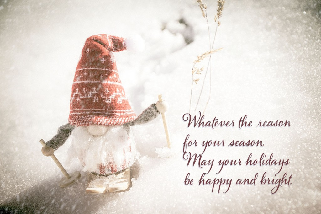 Whatever the reason for your season, may your holidays be happy and bright.